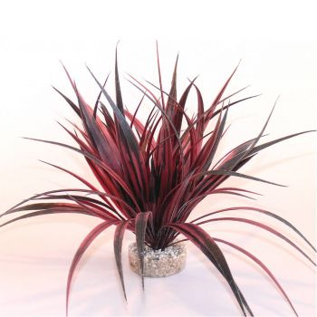 Kunststoffpflanze Amazonia rot ca. 22 cm hoch