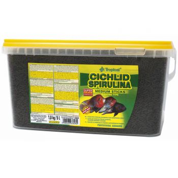 Tropical Cichlid Spirulina Medium Sticks 1,8 Kg - 5 Liter Eimer