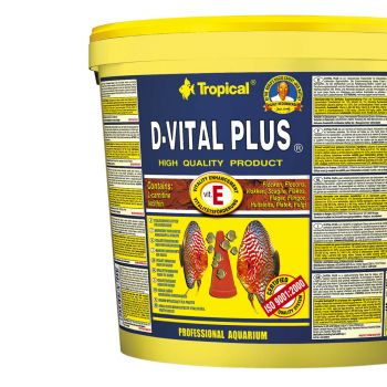Tropical D-Vital Plus Vitamin E Flockenfutter 5 Liter Eimer