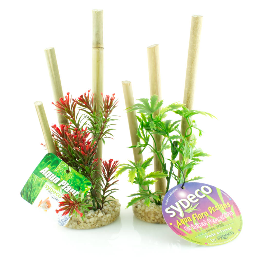 Aquarium Bambus Kunst Pflanze 2er Pack Bamboo Forest Plants 20 Cm