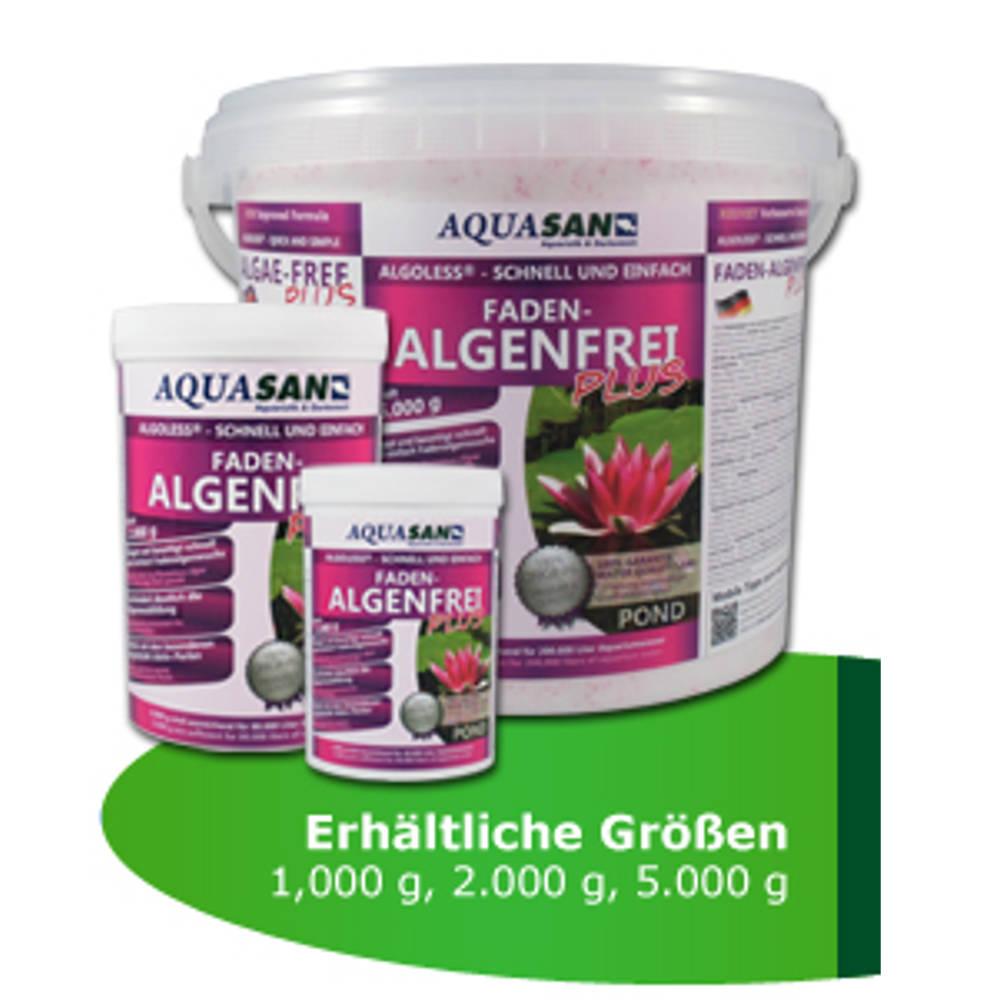 Aquasan algoless faden algenfrei plus 5000g g nstig for Gartenteich algenfrei