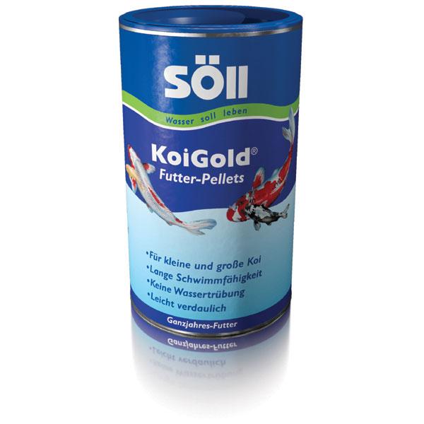 Soell koigold 1l koi futter pellets g nstig kaufen bei for Was fressen teichfische