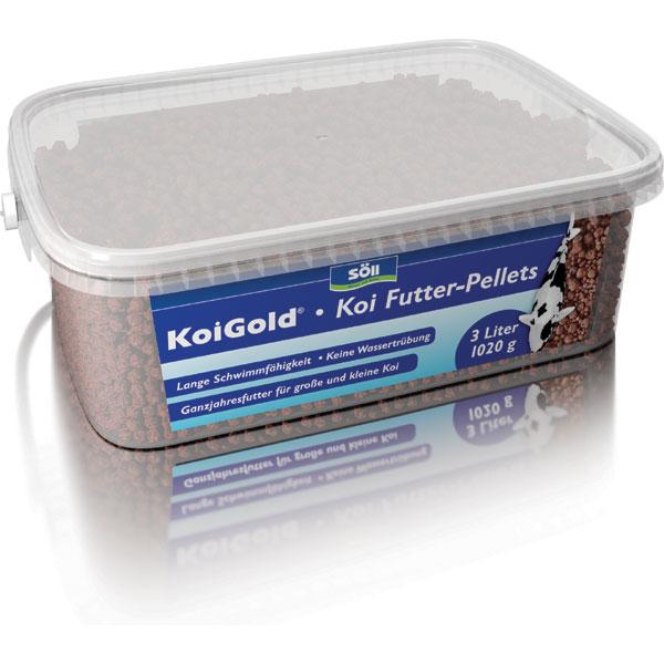 Soell koigold 3l koi futter pellets g nstig kaufen bei for Was fressen teichfische