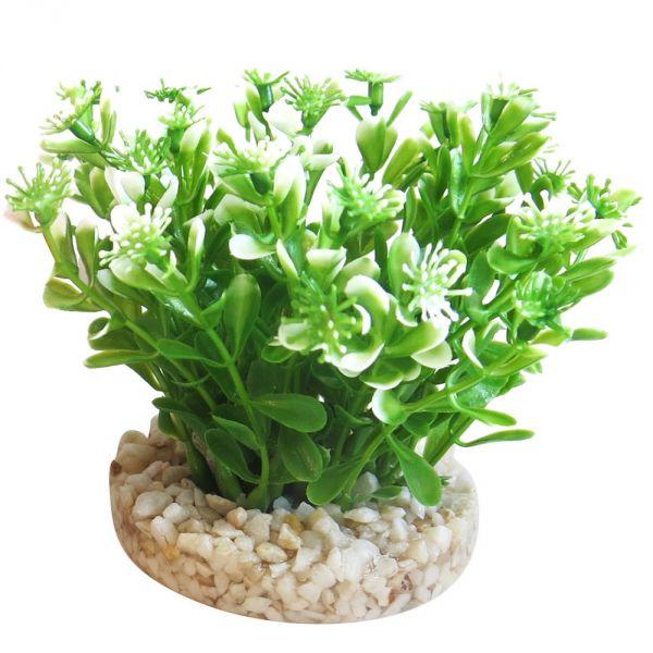 Aquarium Kunst Pflanze Aqua Bouquet grün/weiss ...