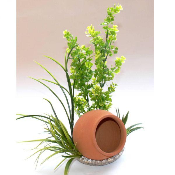 Aquarium Kunst Pflanze Jar plant grün 35 cm hoc...
