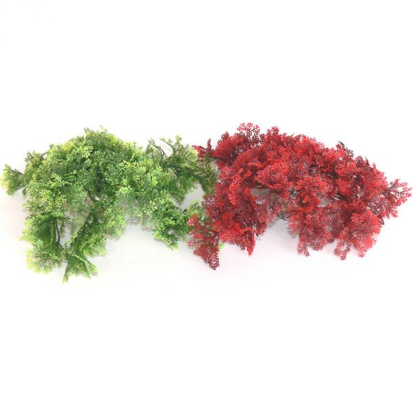 Aquarium Kunststoff Pflanze Moos 2er Set grün/r...