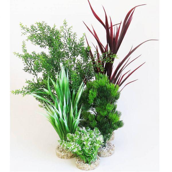 Kunststoffpflanzen Set (5 Pflanzen) für Aquarium Mitte/Hintergru bei Aqua Design