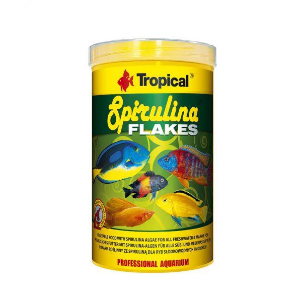 Tropical Spirulina Flakes Flockenfutter 200g in 1 Liter Dose